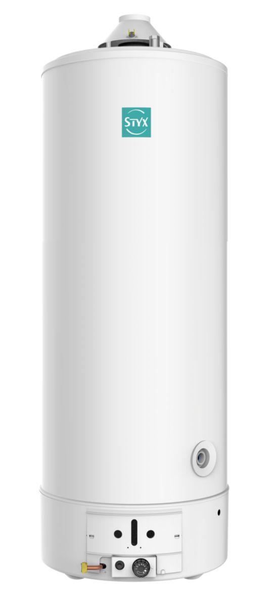 Chauffe eau Styx 195L Tes X 200 avec veilleuse chemine sur socle