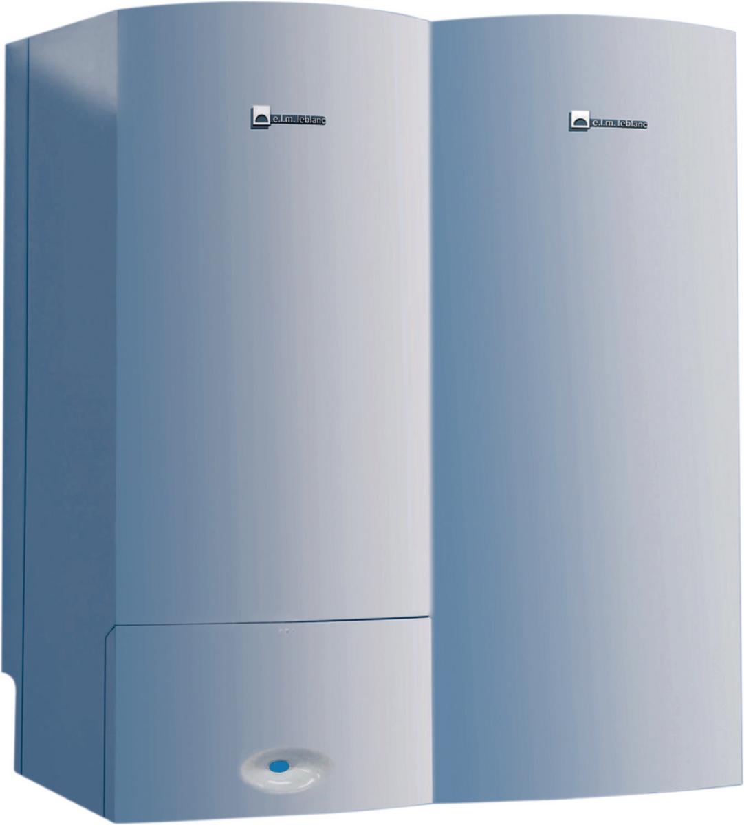 Chaudière basse température Egalis plus 24 kW cheminée avec ballon ECS 121 litres classe énergétique C/B